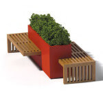 Linear Planter Bench