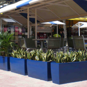 Rectangular Fiberglass Planter Modern Rectangular