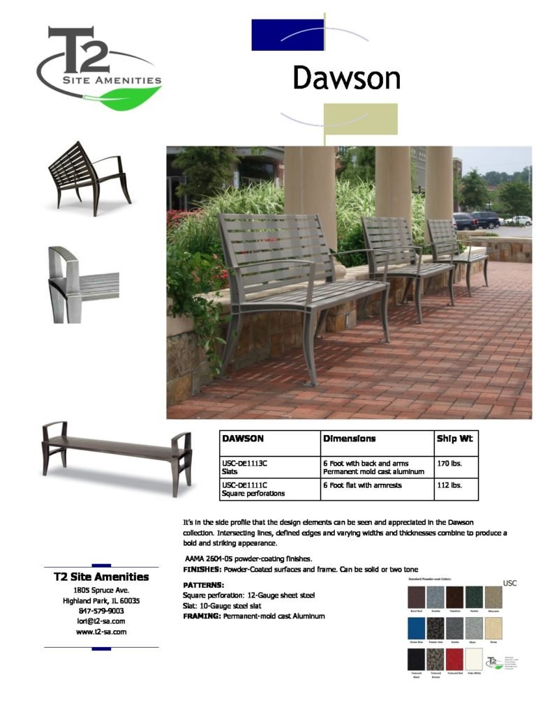 Wondrous Usc Dawson Bench W No 2017 Pricing Lt T2 Site Amenities Caraccident5 Cool Chair Designs And Ideas Caraccident5Info