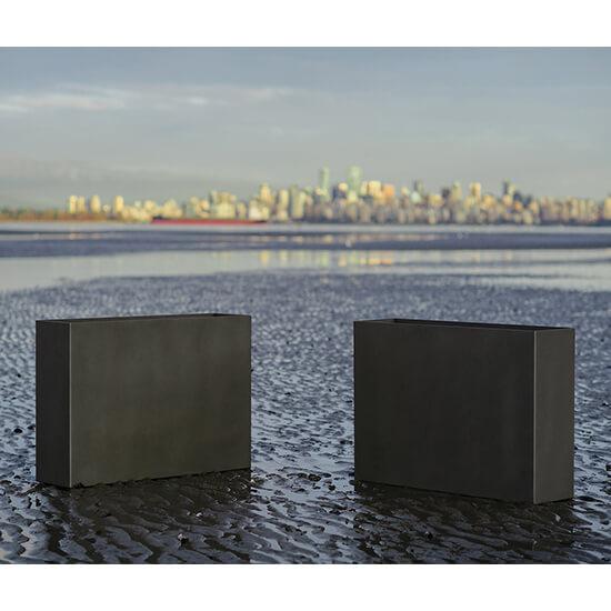Metal rectangular tall planters