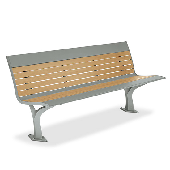 Composite Benches Stainless Steel Composite Wood Benches T2 Site Amenities