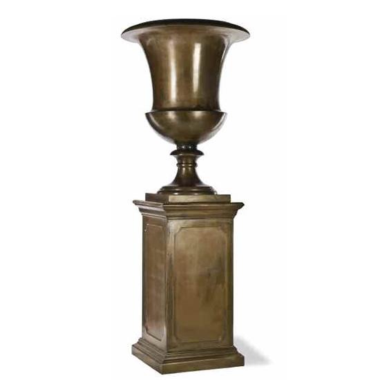 Roman on Pedestal Bronze