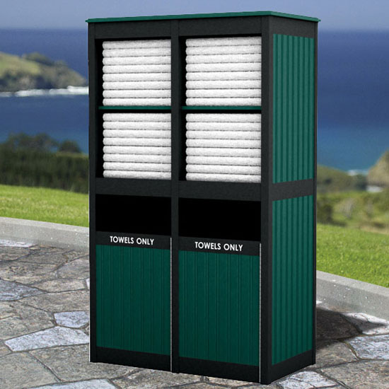 Cayman Double Tower Towel Valet