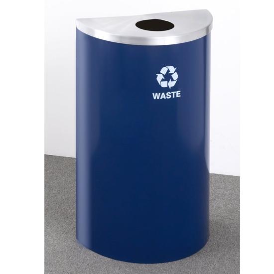 Geneva Half Round Blue Recycler