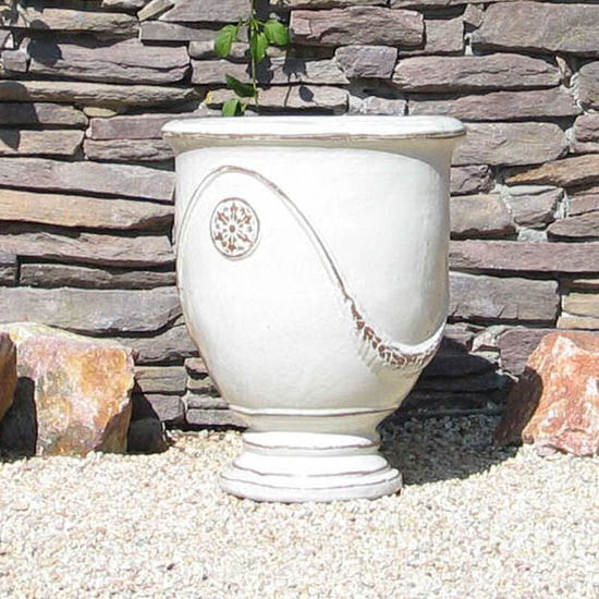 Large White French Urn