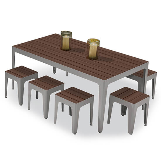 Mingle Table Recycled Planks