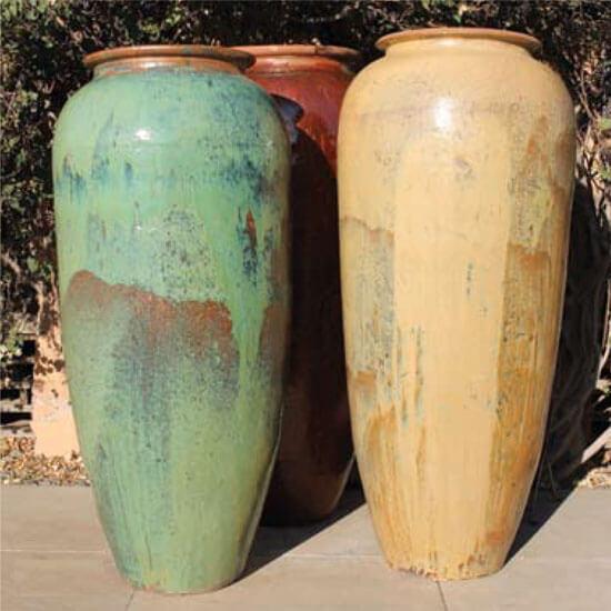Oversize Rustic Glazed Jars