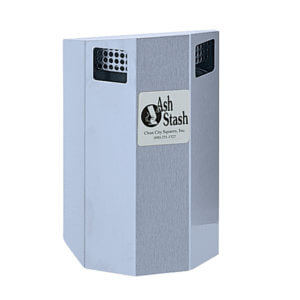 wall mounted cigarette receptacle