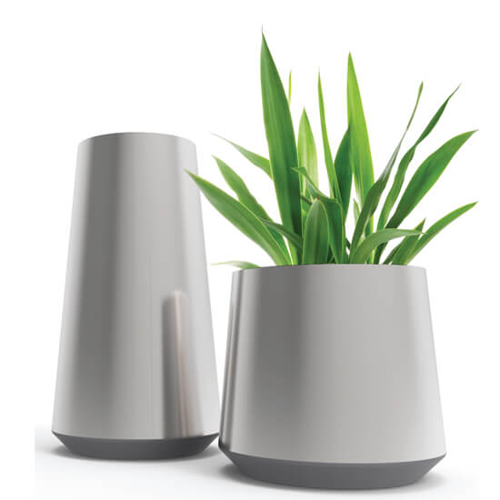 Metal tapered planters