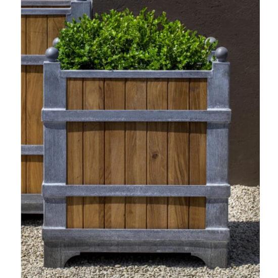 Small Oak Zinc planter