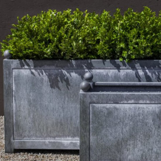Rectangular Metal Planters For Hotels Commercial Metal